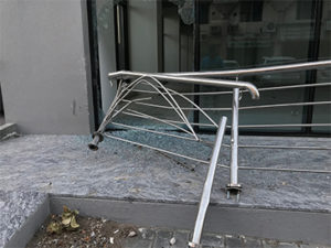 Faulty Handrail Injury Case